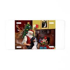 Santa's Home & Bernese Aluminum License Plate