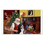 Santa's Home & Bernese Sticker (Rectangle 50 pk)