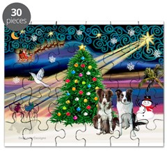 XmasMagic/2 Border Collies Puzzle