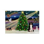 XmasMagic/ Border Collie Rectangle Magnet (10 pack