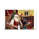 Santa's Border Collie Car Magnet 20 x 12