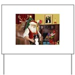 Santa's Border Collie Yard Sign