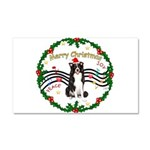 XmasMusic1MC/Border Collie Car Magnet 20 x 12