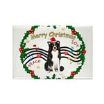 XmasMusic1MC/Border Collie Rectangle Magnet (10 pa