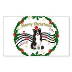 XmasMusic1MC/Border Collie Sticker (Rectangle 10 p