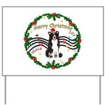 XmasMusic1MC/Border Collie Yard Sign