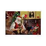 Santa's Border Terrier Rectangle Magnet