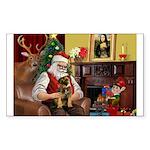 Santa's Border Terrier Sticker (Rectangle)