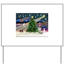XmasMagic/Brittnany Spaniel Yard Sign