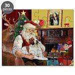 Santa & His Brittany Puzzle