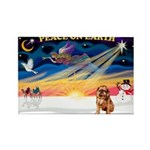 XmasSunrise/Brussels (brn) Rectangle Magnet (10 pa