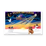 XmasSunrise/Brussels (brn) Rectangle Car Magnet