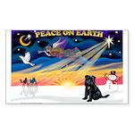 XmasSunrise/Brussels (blk) Sticker (Rectangle 50 p