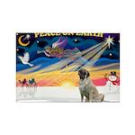 XmasSunrise/Mastiff #3 Rectangle Magnet (10 pack)