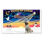 XmasSunrise/Mastiff #3 Sticker (Rectangle)