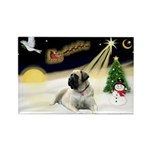 Night Flight/Mastiff 4 Rectangle Magnet