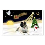 Night Flight/Mastiff 4 Sticker (Rectangle 50 pk)