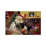 Santa's Bullmastiff #7 Rectangle Magnet (10 pack)