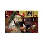 Santa's Bullmastiff #7 Rectangle Magnet