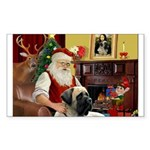 Santa's Bull Mastiff Sticker (Rectangle)
