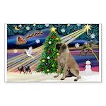 XmasMagic/Bull Mastiff Sticker (Rectangle 10 pk)