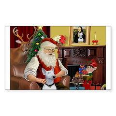 Santa's Bull Terrier Decal