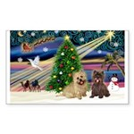Xmas Magic & 2 Cairns Sticker (Rectangle 10 pk)