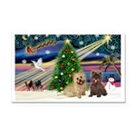 Xmas Magic & 2 Cairns Rectangle Car Magnet