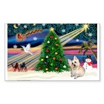 XmasMagic/ Cairn T Sticker (Rectangle 50 pk)