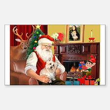 Santa's Cairn Terrier Decal