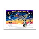 XmasSunrise/Catahoula Car Magnet 20 x 12