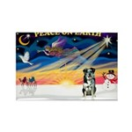XmasSunrise/Catahoula Rectangle Magnet (10 pack)