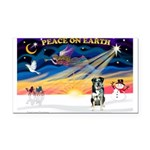 XmasSunrise/Catahoula Rectangle Car Magnet