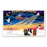 XmasSunrise/3 Cavaliers Sticker (Rectangle 10 pk)