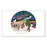 XmasMagic/2 Cavaliers Sticker (Rectangle)