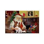Santa's Cavalier (BL) Rectangle Magnet (10 pack)