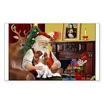 Santa's Cavalier (BL) Sticker (Rectangle 50 pk)