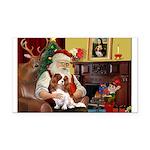 Santa's Cavalier (BL) Rectangle Car Magnet