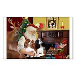 Santa's 2 Cavaliers Sticker (Rectangle 10 pk)