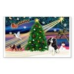 XmasMagic/Tri Cavalier Sticker (Rectangle 50 pk)