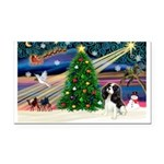 XmasMagic/Tri Cavalier Rectangle Car Magnet