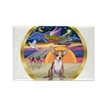 XmasStar/Chihuahua #1 Rectangle Magnet (10 pack)