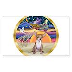 XmasStar/Chihuahua #1 Sticker (Rectangle)