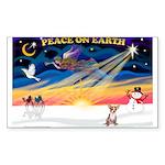 XmasSunrise/Chihuahua #1 Sticker (Rectangle)