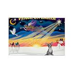 XmasSunrise/Chihuahua #5 Rectangle Magnet (10 pack