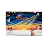 XmasSunrise/Chihuahua #6 Rectangle Magnet (10 pack