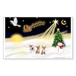 Night Flight/3 Chihuahuas Sticker (Rectangle)
