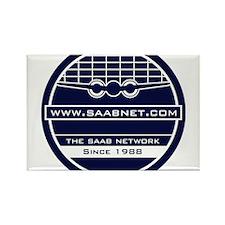 Saabnet.com Logo Rectangle Magnet