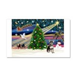 Xmas Magic & Chihuahua Car Magnet 20 x 12