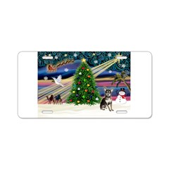 Xmas Magic & Chihuahua Aluminum License Plate
